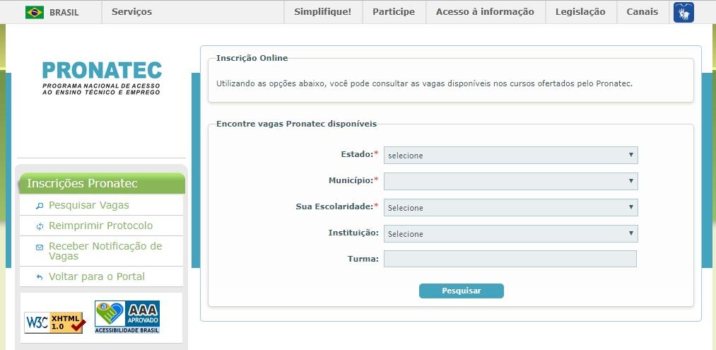 inscrições PRONATEC voluntario 2019 segundo semestre