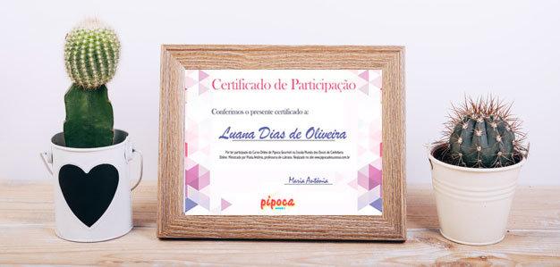 certificado de pipoca gourmet com certificado