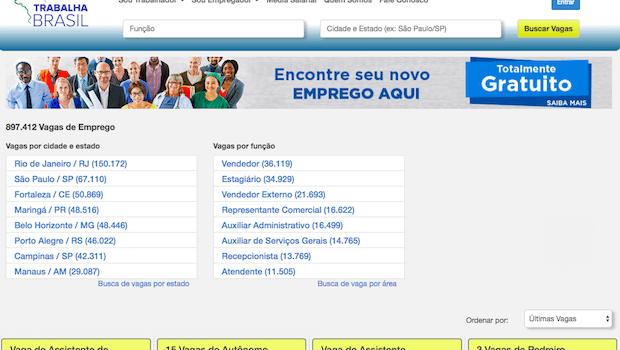 Trabalha Brasil Portal de Empregos – novo sine, conheça!