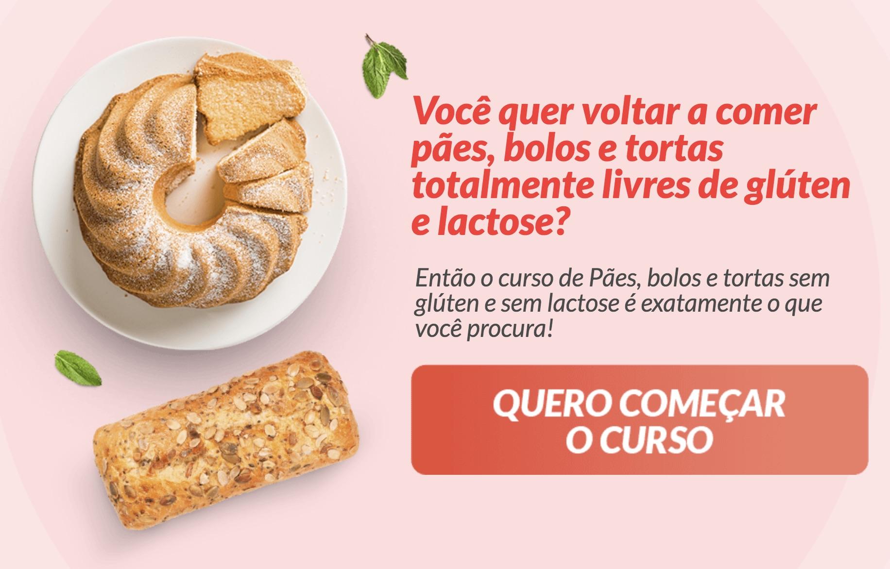 Curso Pães Bolos e tortas sem gluten e lactose